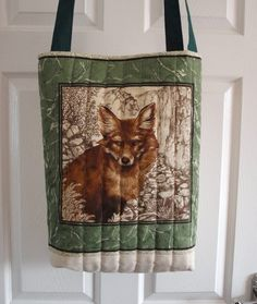 Handmade Quilted Fox design tote bag by woosbagsandcrafts on Etsy, £10.00