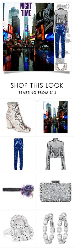 """Night Time"" by shoecraycray ❤ liked on Polyvore featuring Steve Madden, MSGM, Filles à papa, Dolce&Gabbana, Oscar de la Renta and Chopard"