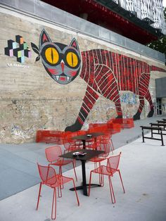 Great cat-- Nantes, France street art
