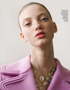 Arisha Kriukova by David Ferrua for Vogue Ukraine November 2017