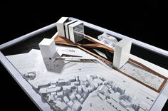 Keelung New Harbor Service Building Competition Entry / ACDF Architecture,model 02