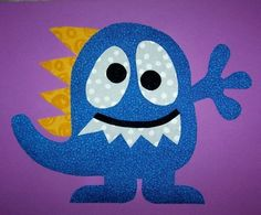 Fabric Applique PDF TEMPLATE PatternSpike The Monster by etsykim, $1.50
