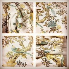 Some vintage interlined curtains have arrived in the workroom for a little bit of remodelling they are a printed chintz, possibly Colefax & Fowler?