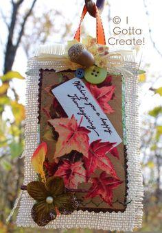 I Gotta Create!: Reversible Burlap Thanksgiving Ornaments