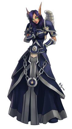 WoW:+Sarna+The+Priest+by+ryumo.deviantart.com+on+@deviantART