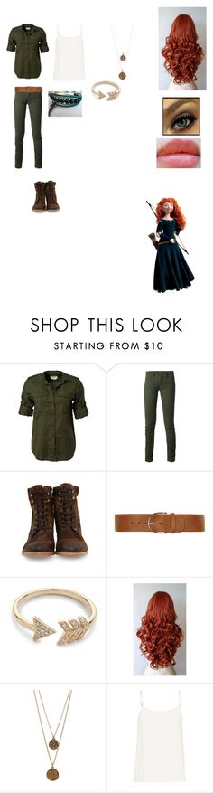"""Modern Merida"" by me-myself-and-i143 ❤ liked on Polyvore featuring Denim & Supply by Ralph Lauren, Dolce&Gabbana, n.d.c., Dorothy Perkins, EF Collection, Bee Charming, Equipment, Revlon and modern"