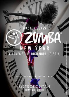 Despide el año con una súper Master Class de Zumba Especial New Year en Metropolitan Begoña.  Te esperamos el próximo viernes, 30 de Diciembre a las 9:30 h. Inscripciones en nuestra web.
