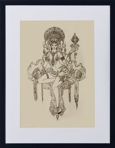 RATI 6 | Theme - The Times | Artist - Vijayakumar Arumugam | Choice of White, Black, Natural Wood Frame || A4 ₹4,000 / A3 ₹5,500 / A2 ₹7,000 || ☏ (+91) 22 26550982 || Description - The Indian Goddess of carnal desire and the wife of Kāma, the Indian God of sex, steps out of her abode of pleasure to pose for the artist. || #ThisIsArt ● #ArtOfOurTimes ● Own it & #SupportTheArtist