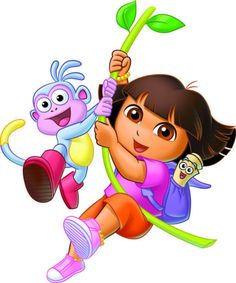 Dora the Explorer Peppa Pig Wallpaper, Cartoon Wallpaper, Dora Cartoon, Topper, Dora The Explorer, Rock Art, 2nd Birthday, Princess Peach, Alice
