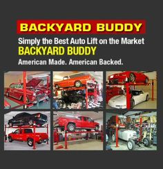 Backyard buddy 7 000 lb standard four post lifts 63 for Garage market cars montpellier