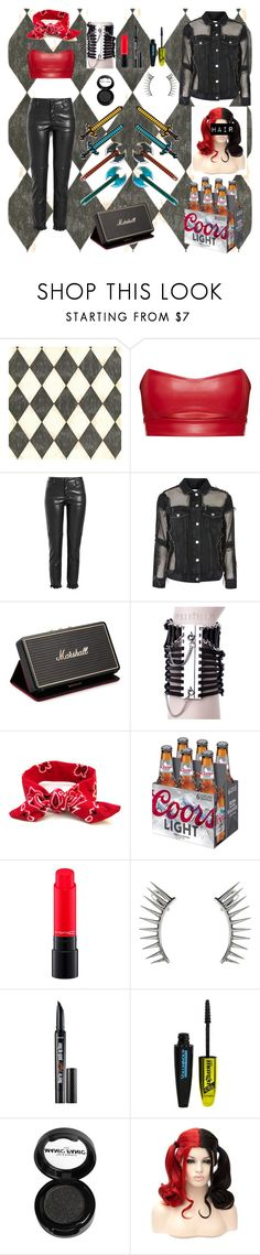 """Rock Party"" by freefreak ❤ liked on Polyvore featuring Ballard Designs, Philosophy di Lorenzo Serafini, Topshop, Marshall, MAC Cosmetics, Latelita, L'Oréal Paris and Manic Panic NYC"