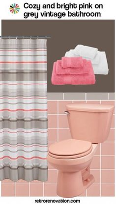 See our complete slide show of 99 design boards with ideas to decorate a pink bathroom. Ideas for pink & black / gray / white / blue / maroon/ green -- Epic!