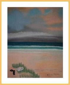 Footsteps in the Sand - a pastel by Evelyn McCorkell - www.3facesgallery.com