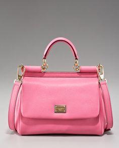 Dolce & Gabbana Small Miss Sicily Leather Handbag