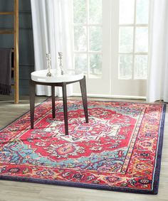 Love this Red & Turquoise Aydin Rug on #zulily! #zulilyfinds