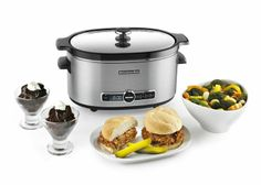 KitchenAid 6-Quart Slow Cooker with Glass Lid has the ideal capacity for family-size meals and the convenience of 24-hour programming.
