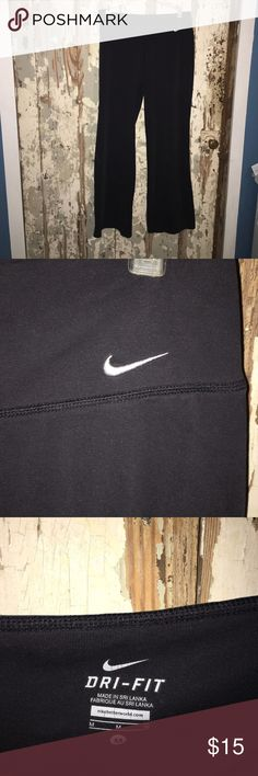 Nike Yoga Pants Black yoga pants, form fitting but still comfortable and have stretch, soft material Nike Pants