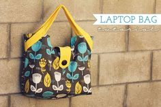Free Quilted Purse Pattern | Free Tutorial - Laptop Bag by Joy Kelley