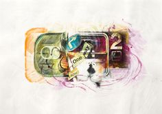 Kiss - Acrylic on paper - 27x50cm