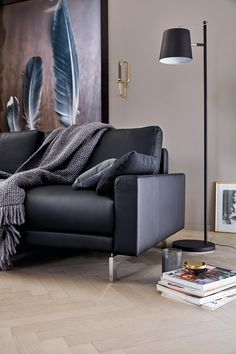 Hülsta Sofa Hs.450 Individuelles Sofa Programm Zur Konfiguration /  Seitenteil Schmal Niedrig / Leder Oskar Blau Dunkelblau Nachtblau / Set:  Eleganter Altbau ...