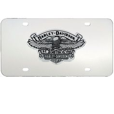 harley davidson eagle with bs license plate