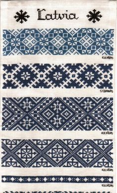 Stitching Sanity | petitepointplace: Latvian Folk Embroidery