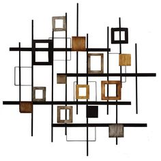 Metal Abstract Brown Wall Decor x Find affordable Wall Decor for your home that will complement the rest of your furniture. Brown Wall Decor, Metal Wall Decor, Abstract Metal Wall Art, Geometric Wall, Painting Abstract, Geometric Shapes, Contemporary Wall Decals, Modern Wall, Contemporary Art