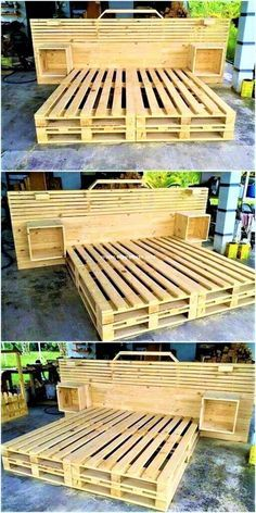 Stylish Diy Pallets Bed Ideas