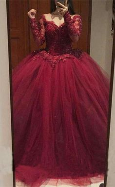 Charming Burgundy Quinceanera Dresses Prom Dresses wkith Long Sleeves from Wedding Charming Burgundy Quinceanera Dresses Prom Dresses wkith Long Sleeves · Wedding · Online Store Powered by Storenvy Related posts:Floral Charro Quinceañera Dress by. Tulle Ball Gown, Ball Gowns Prom, Ball Gown Dresses, Prom Dresses, Xv Dresses, Custom Dresses, Evening Dresses, Long Sleeve Quinceanera Dresses, Burgundy Quinceanera Dresses