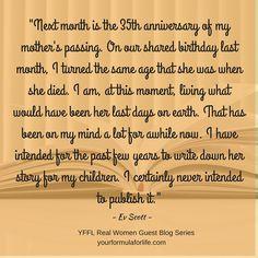 Guest blogger Ev Scott on her new book - My Mother's Keeper.  http://www.yourformulaforlife.com/show/blog/8604?utm_content=buffer5854c&utm_medium=social&utm_source=pinterest.com&utm_campaign=buffer #newauthor #newdirection #goals