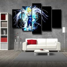 Home & Garden Aggressive Kingdom Hearts Dragon Ball Super One Piece Naruto Pop Anime Poster And Prints Art Painting Wall Pictures Living Room Home Decor Painting & Calligraphy