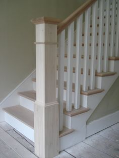 Simple Newel Post Design with Square Balusters
