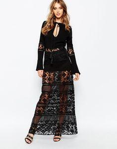 Stevie May San Antonio Long Sleeve Maxi Dress in Black