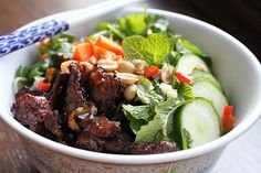 Vietnamese Grilled Pork with Noodles (Bún Thịt Nướng) Very authentic
