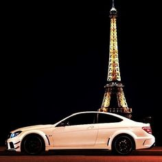 Mercedes Benz + Eiffel Tower = love