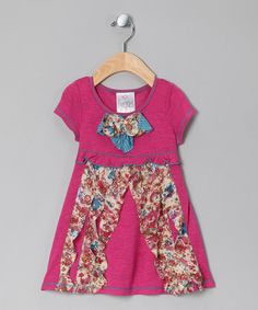 Take a look at this Fuchsia Caribbean Wave Dress - Toddler & Girls by Freckles + Kitty on #zulily today!