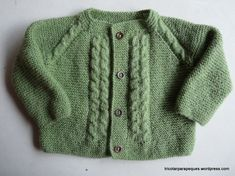 Lovely cardigan for baby 6 months old. Modelo 14 – Tricotar para peques – Knitting for kids