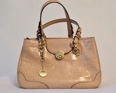 #DKNY light beige bag in mint condition on sale at www.secretstash.pk - Pakistan's number 1 luxury marketplace