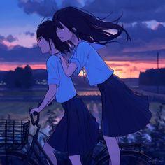 Kawaii Love, Kawaii Girl, Sad Anime, Kawaii Anime, Yuri, Pikachu, Anime Group, Romance, Just Girl Things