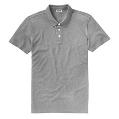 Bamboo Pique Polo in Heather Gray by Phil Anth | Canadian-Made Clothing | Handcrafted from American pure bamboo and organic cotton. The softest polo you will ever wear.