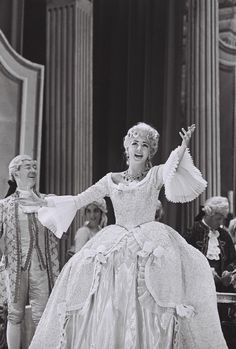 Anna Moffo as Manon with Florida Grand Opera, 1963. This opera has some of the most beautiful 18th century costumes!