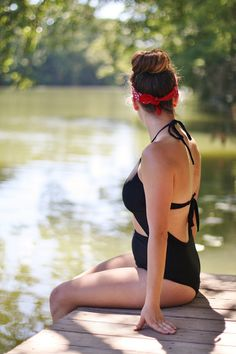 Going Off The Grid in the Texas Hill Country - Fashion Over Fatigue; One piece swim suit
