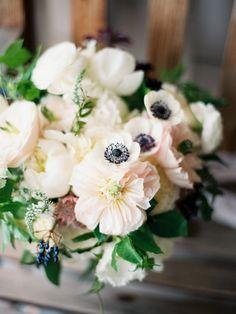 Anemone wedding florals    Photo by Ashley Kelemen   Flowers by Blush Botanicals   Read more - http://www.100layercake.com/blog/?p=79005