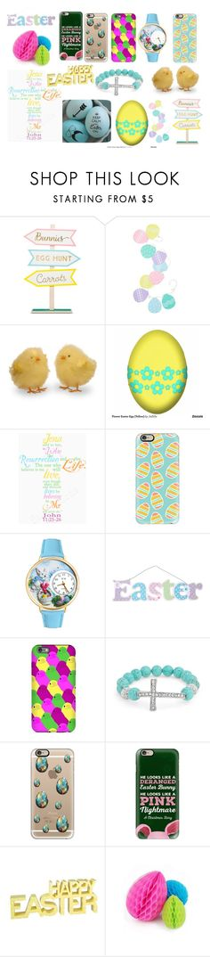 """""""Easter"""" by sahara2313 ❤ liked on Polyvore featuring Levtex, Casetify, Whimsical Watches and Bling Jewelry"""