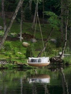 Someone needs to make a portaledge that looks this inviting!