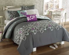 full bedding sets for women   Roxy Heart And Soul Full Bed In A Bag And Toss Pillows Auctions - Buy ...