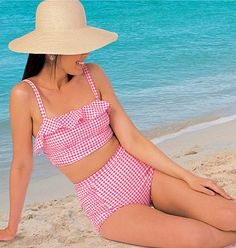 Swimsuit Pattern McCall's Pattern 7168 2 Piece Swimsuit by blue510