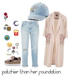 """pins for the win"" by paiger2820 ❤ liked on Polyvore featuring Topshop, Current/Elliott, SO, Marc Jacobs, Cara and Goblinko Megamall"