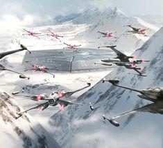 Illustration for Star Wars card game, fantasy flight games. X-wings
