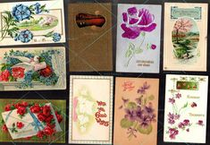 9 POSTCARD Antique Vintage 1908-1911 w 1c stamps Best Wishes Happy Thoughts Kind  | eBay For Sale in my Ebay store.  MaxRainet.com   #roses #vintage #postcards #greetings #1900s #stamps #stampcollecting #postcard #collecting #ephemera #victorianscrap #scrapbookers #makers #repurpose #crafters #paper #antiques #designs #flowers #bouquets #kindness #happythoughts
